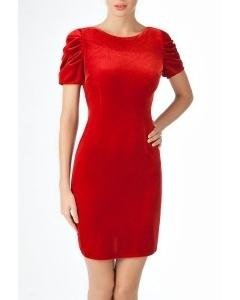 Платье из мягкого бархата