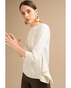 Блузка молочного цвета Emka B2468/frai
