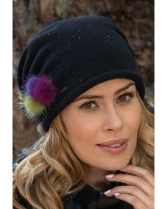 Женская шапка с цветными помпонами Willi Rivia