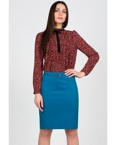 Прямая юбка Emka Fashion 480-scarlet