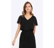 Чёрное платье в пол Emka PL785/sello