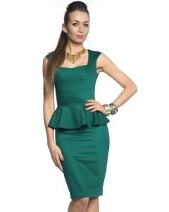 Изумрудное платье без рукавов   DSP-84-38