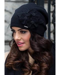 Чёрная женская шапка Kamea Daria