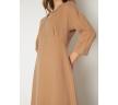 Платье-футляр бежевого цвета Emka PL1086/arman