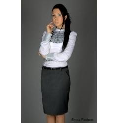 Emka Fashion - прямая серая юбка