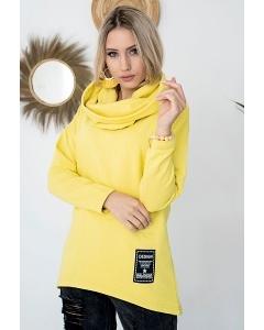 Жёлтый джемпер с капюшоном M.Hajdan BL1110