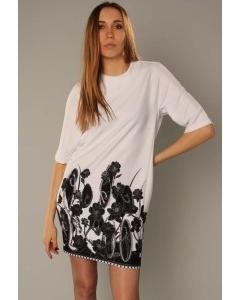 Черно-белое платье-туника   3479