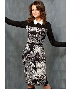Платье с белым воротничком TopDesign B3 113