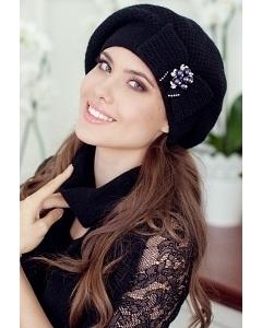 Комплект (шапка+шарф) Landre Серафима (чёрный)