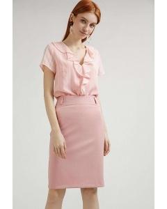 Розовая юбка прямого кроя Emka Fashion S671-60/fussy