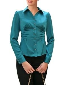 Изумрудная блузка Golub | Б585-1779
