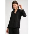 Блузка черного цвета в полоску из люрекса Emka B2412/nyusha