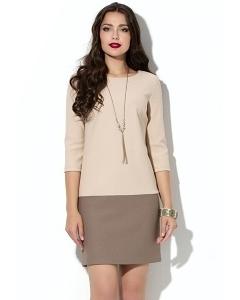 Короткое двухцветное платье Donna Saggia DSP-136-45t