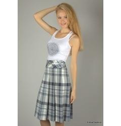 Клетчатая юбка с завышенной талией