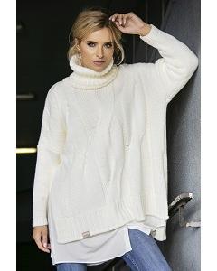 Асимметричный свитер oversize Fobya F551