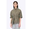 Женская рубашка свободного кроя с поясом Emka B2301/videre