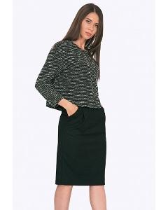 Чёрная юбка прямого кроя Emka 723/almaza