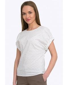 Женская летняя блузка в мелкий горох Emka B2226/moema