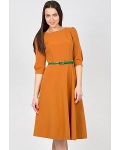Платье горчичного цвета Emka Fashion PL-407/sofi