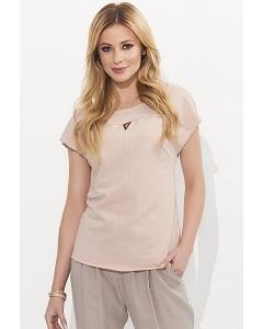 Хлопковая блузка грязного розового цвета Zaps Orina