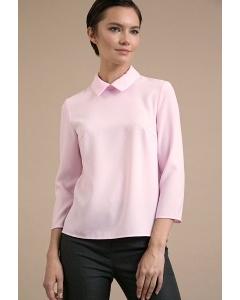 Блузка розового цвета с воротником Emka B2414/damari