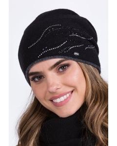 Чёрная польская шапка Kamea Rita