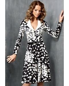 Черно-белое платье TopDesign B3 057