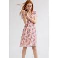 Платье из легкой ткани с цветочным принтом Emka PL901/veiland