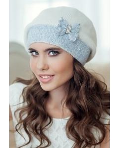 Голубая женская шапка Landre София