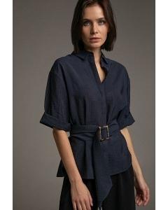Блуза свободного кроя с широким поясом Emka B2301/fedora