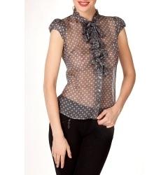 Прозрачная шелковая блуза