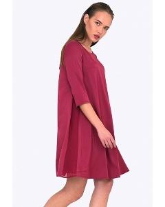 Малиновое платье Emka PL682/coco