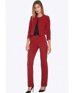 Женские красные брюки прямого кроя Emka D015/amour
