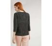 Черная блузка в горох из легкой ткани Emka B2398/loredana