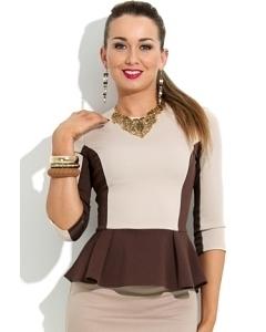 Стильная блузка с баской Donna Saggia DSB-21-70t