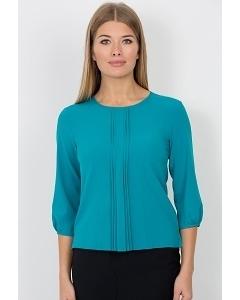 Блузка бирюзового цвета Emka Fashion b 2101/aventina