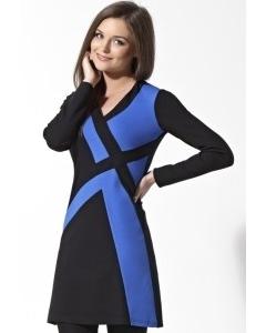 Черно-синее платье-туника   B2 129