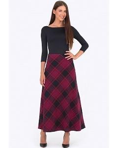 Длинная юбка-трапеция Emka Fashion 314-floretta