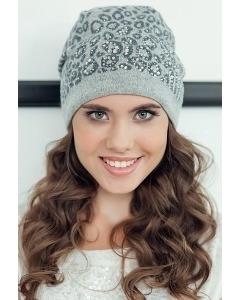 Женская шапка Landre Саванна (светло-серый/серый)
