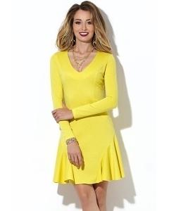 Коктейльное платье жёлтого цвета Donna Saggia DSP-100-54t
