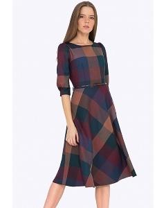 Клетчатое платье Emka PL407/delgira