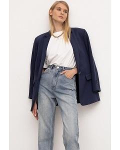 Голубые джинсы прямого силуэта Emka D187/darling