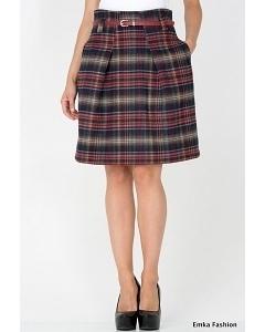 Шерстяная юбка-колокол Emka Fashion 497-taliya
