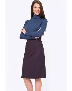 Демисезонная юбка А-силуэта с карманами Emka S720/wineberry