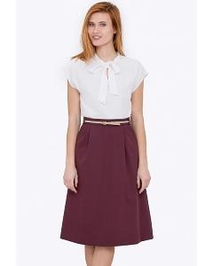 Летняя юбка баклажанного цвета Emka 694-65/tamara