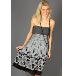 Сарафан-юбка серого цвета