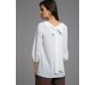 Молочная блузка прямого кроя Emka B2509/moriviz