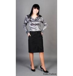 Черная юбка до колена | 139-Fss
