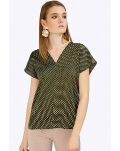Зеленая блузка в горох Emka B2402/saratoga