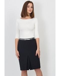 Тёмно-синяя юбка Emka Fashion 545-olesya
